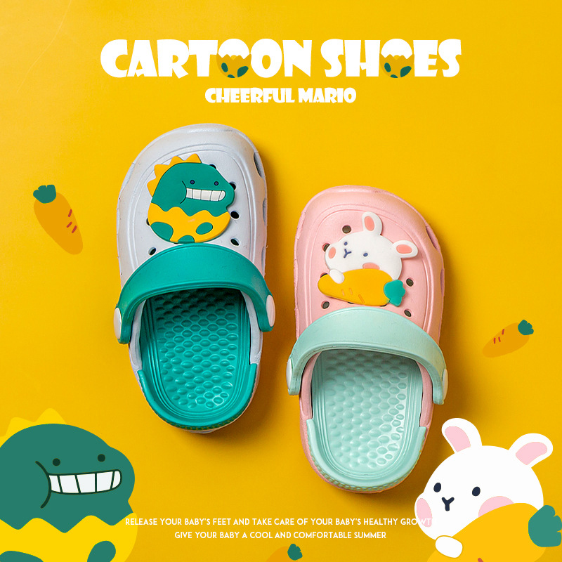New Baby Slippers Summer Baby Boys Girls Shoes Bathroom Beach Non-slip Garedn Shoes Cute Soft Bottom Children Slippers Sandals
