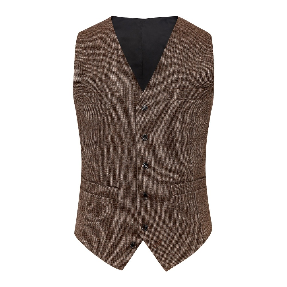 Brown Donegal Tweed Front