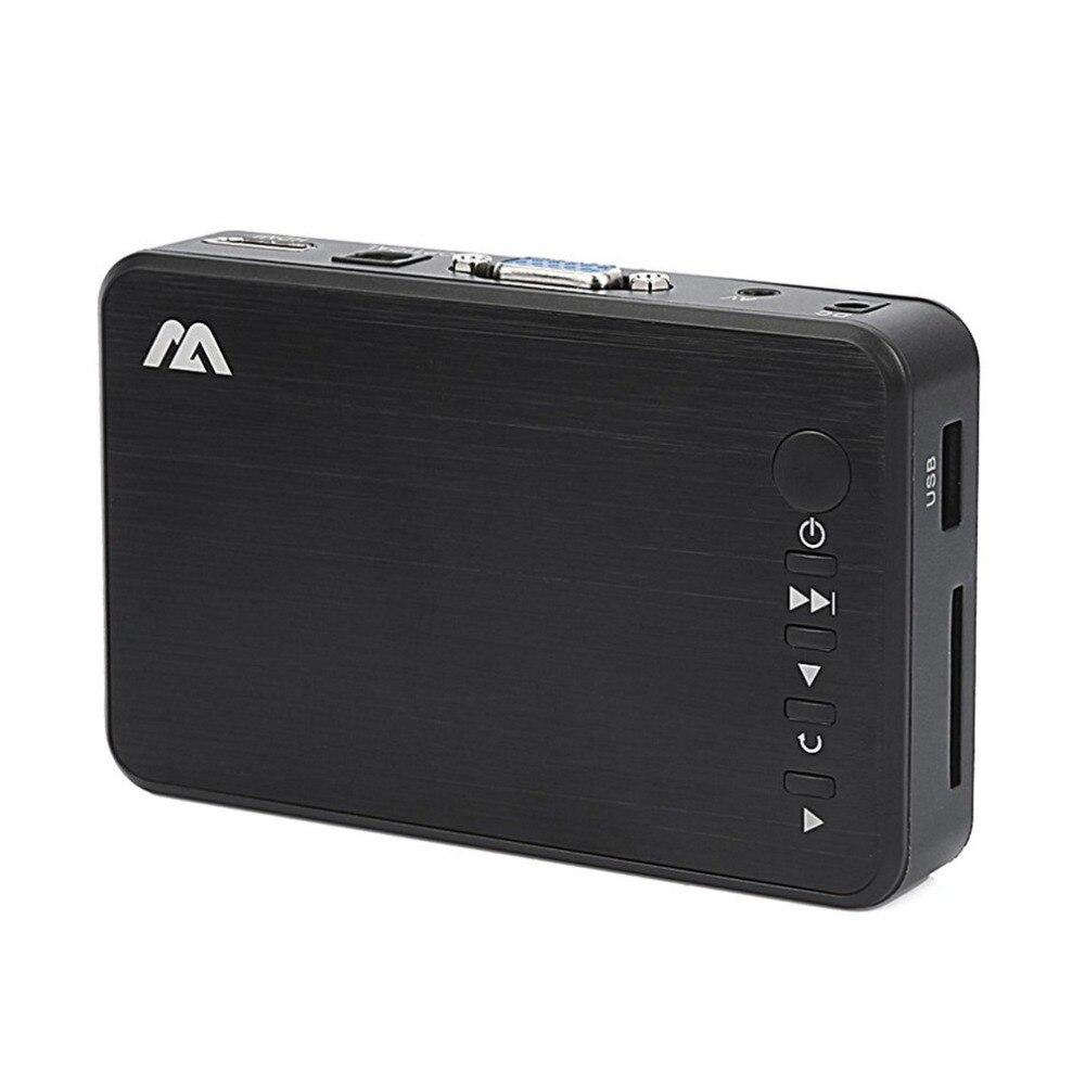 Mini Full HD Media Multimedia Player Autoplay 1080P USB External HDD SD U Disk RMVB AVI MKV Media Player With HDMI VGA AV Output