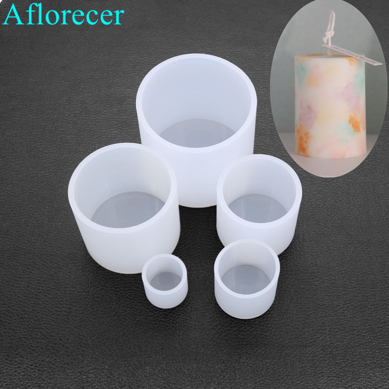 Cylindrical Candle Mould Handmade Candle Mold Silicone Mold Wax Mold Small Craft Flower Planter Concrete Cement Clay Mold