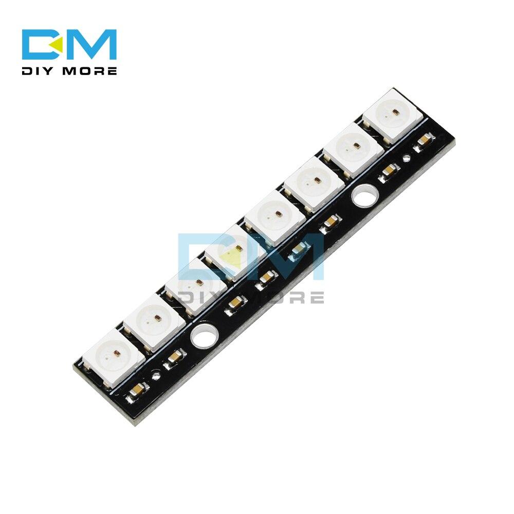 Módulo de luz RGB de 8 bits WS2812 5050, 8 canales, WS2812 5050, luces LED RGB, tablero de desarrollo accionado a todo color