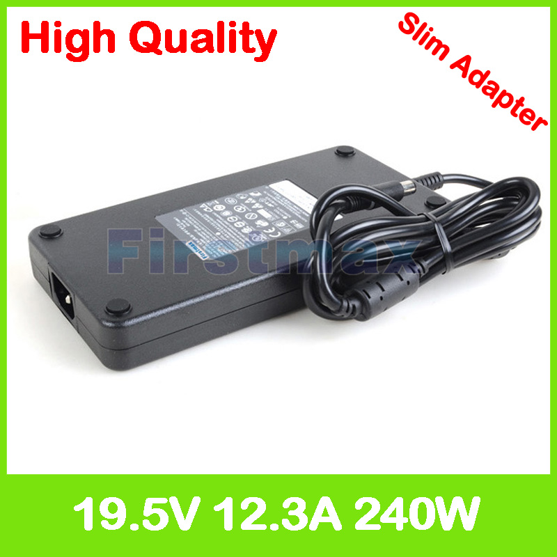 Slim 19.5V 12.3A laptop AC adapter charger for Dell <font><b>Alienware</b></font> <font><b>M17x</b></font> <font><b>R1</b></font> R2 R3 R4 R5 M17x10 P01E 331-9053 450-12893 6RTJT PA-9E image