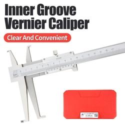 Inside Groove Vernier Caliper 9-150mm Long 2 Claw Stainless Steel Inner Vernier Calipers For Inner Hole Diameter Measuring Tools