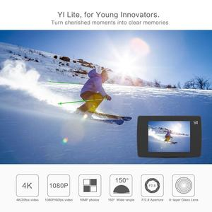 Image 3 - YI Lite экшн камера Sports 16MP настоящий 4K со встроенным WI FI 2 дюймов ЖК дисплей Экран 150 градусов Широкий формат линзы черного цвета