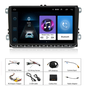 Image 5 - Podofo 9 inch car stereo 2+32GB Android 8.1 Car Multimedia player 2 Din Car radio Wifi GPS MP5 Player Mirror link For VW /SKoda
