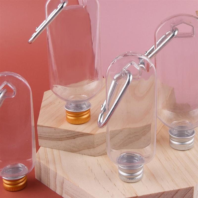 10pcs/5pcs Hanging Hand Sanitizer Bottles Portable Soap Dispensers Sanitizer Dispensers Alcohol Gel Bottles With Hooks 50ml/30ml