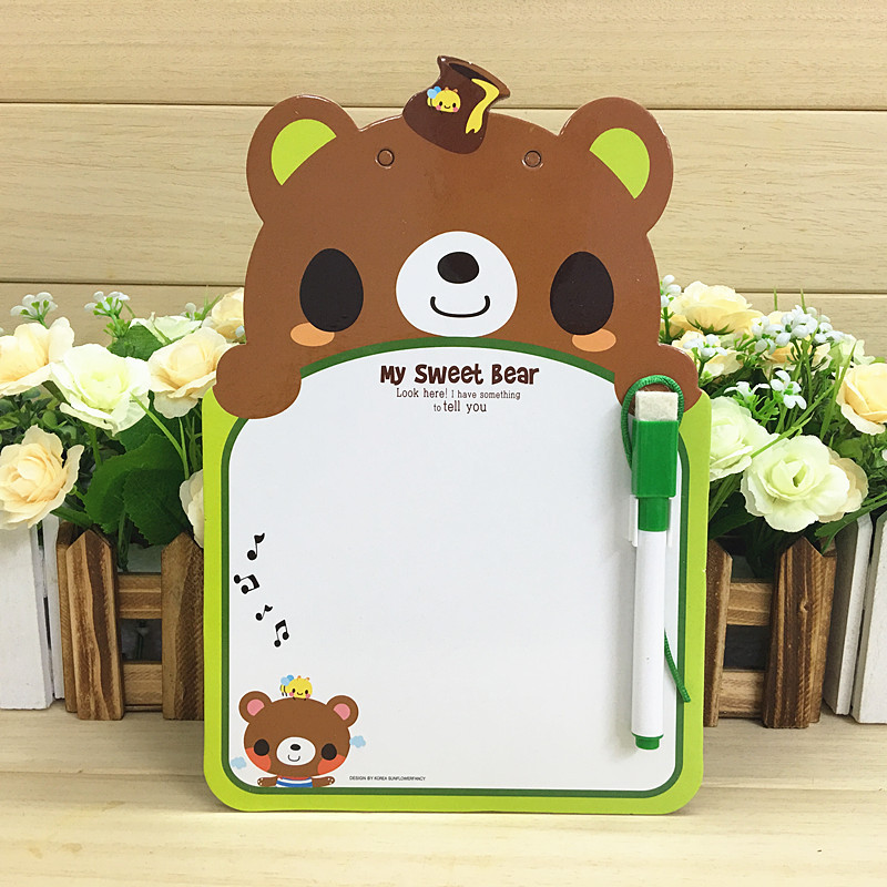 Korean-style Cartoon Children Animal Modeling Whiteboard CHILDREN'S Doing Homework Card Graffiti Message Board Class Schedule Mo