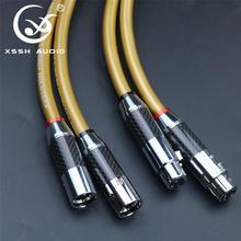 1 para hifi XLR kabel typu jack XSSH OFC czysta miedź zrównoważony interfejs XLR kobieta mężczyzna koncentryczny rozszerzenie Audio przewód linia kablowa drut