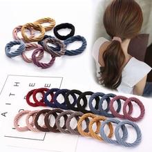 20pcs/Set Women Girls Nylon Elastic Hair Bands Ponytail Holder Rubber Band Scrunchie