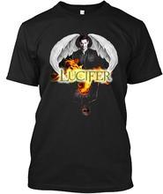 LuckyTee Lucifer Morningstar 10 Tee T-Shirt Quality T Shirts Men Printing Short Sleeve O Neck MenS O-Neck Printed Shirt