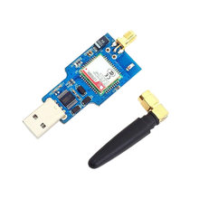 USB to GSM Module Quad-Band GSM GPRS SIM800C Module for Bluetooth SMS Messaging with Antenna(China)