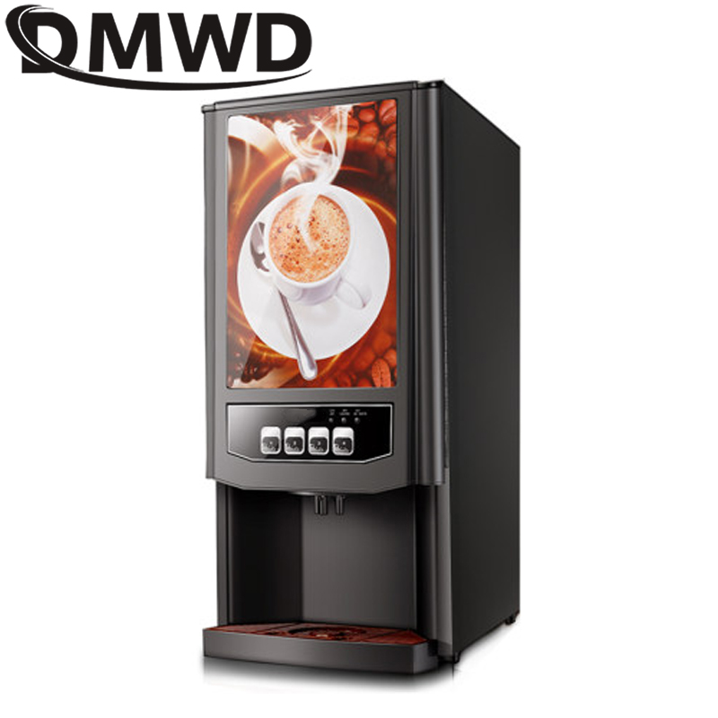 DMWD 3 different drinks mini instant automatic <font><b>coffee</b></font> maker Commercial 2 beverage vending machine fruit juice tea Milk machine image