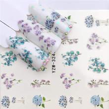 1 pc flor/animal projetos de transferência de água adesivo arte do prego decalques diy moda envoltórios dicas manicure ferramentas