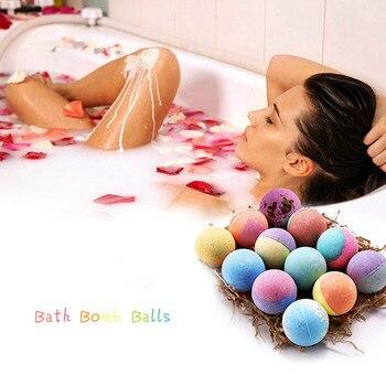 12 Uds. Baño profundo esencial Bola de sal piel cuerpo exfoliante hecho a mano Natural baño bomba hidratación orgánica burbuja de sal de baño