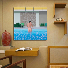 David Hockney Swimming Pool Canvas Painting Print Living Room Home Decor Artwork Modern Wall Art Oil Painting Posters Picture HD