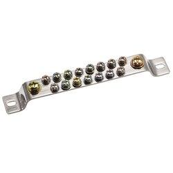 Uxcell miedziany blok zacisków złącze Bar 100A dwurzędowy mostek kształt przewód uziemienia 17 pozycji Łączówki Majsterkowanie -