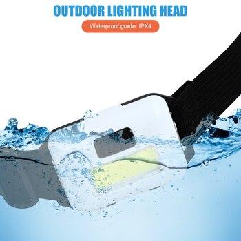 Mini lampe frontale étanche COB, 3 Modes d'éclairage, idéal pour le Camping, la pêche, la nuit 2