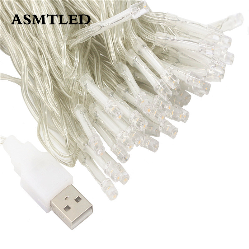 2M 3M 5M 10M DC5V USB LED String Lights USB Holiday Lighting Fairy Garland For Christmas Tree Wedding Party Decoration Light