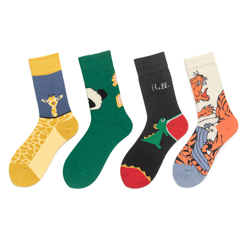 Harajuku <font><b>Animal</b></font> Cotton <font><b>Socks</b></font> Women Cartoon Panda Long <font><b>Socks</b></font> Men Hip Hop <font><b>Unisex</b></font> Funny <font><b>Socks</b></font> Calcetines Mujer image