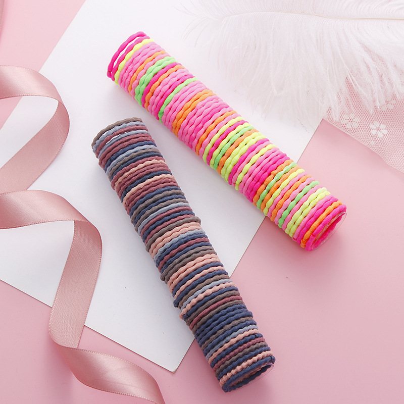 Ponytail-Holder Headband Hair-Accessories Spiral Elastic Girls Children Cute Colorful title=