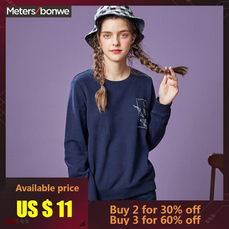 METERSBONWE nouveau automne hiver femmes Sweatshirts Couple modèles hoddies lâche marée Harajuku chemise de fond