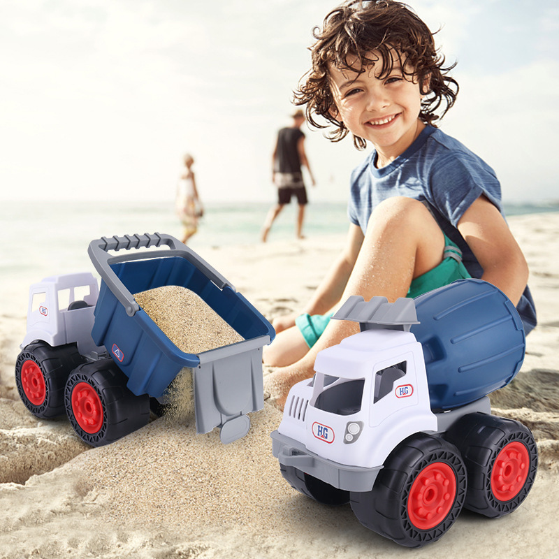 Beach Large Fall-resistant Dump Truck Coasting Children Inertia Engineering Vehicle Loading Excavator Model Children Toys