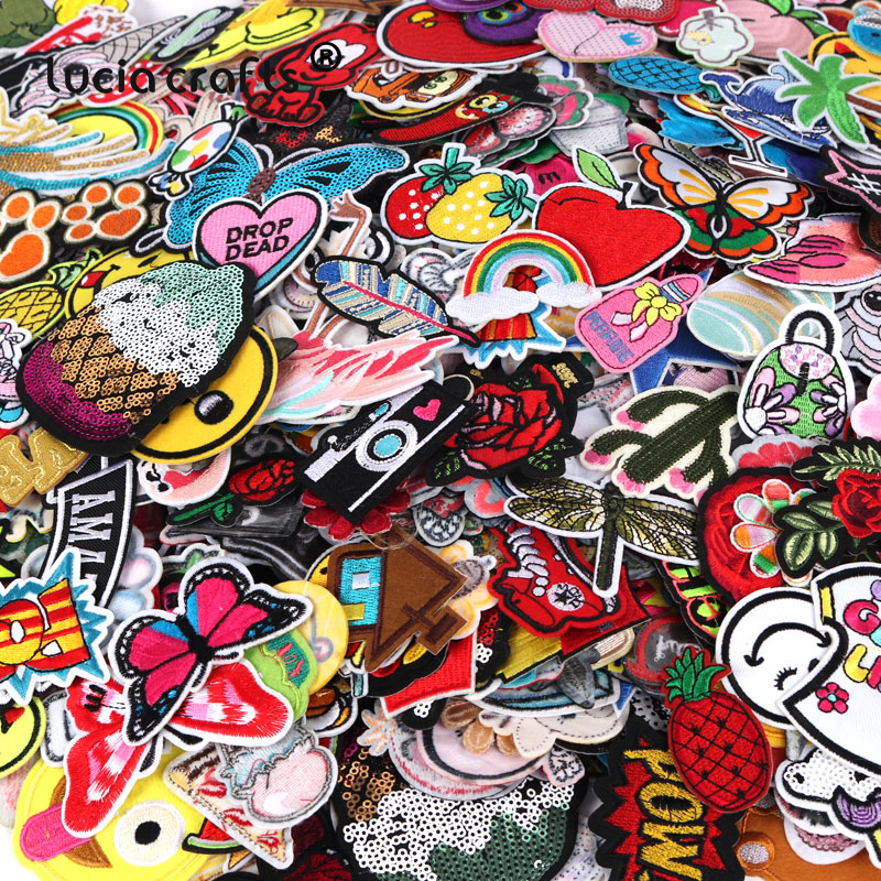 Iron on cloth badge Applique Patch 10//50 Pcs Lucky Star Embroidered patch Sew