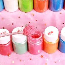 Enchedor de pó para pigmento 10g, kit para adição de brinquedos diy, argila e pigmento em pó fofo e macio decoração