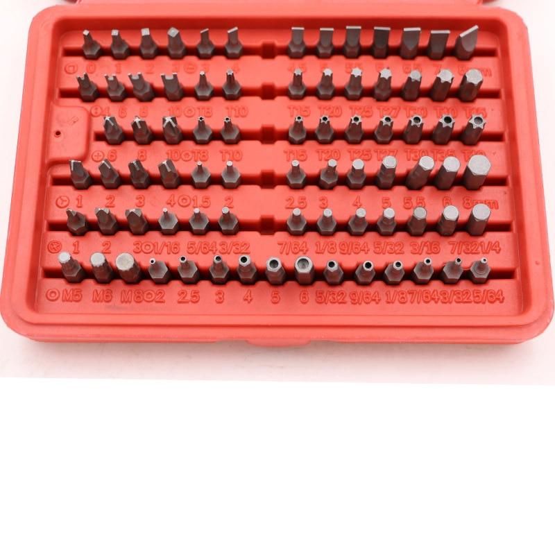 Купить с кэшбэком 100PC batch head nozzle electric screwdriver column set set cross word plum head set Car repair hand tools set