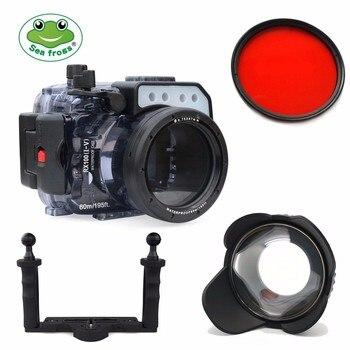 Meikon 60M Underwater Camera Housing Case For Sony RX100 I-V w/ Dome Port & Tray