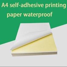 100 A4 Inkjet Laser Printer Paper Craft Copier Sticker Waterproof Label Sticker Glossy Matte Paper Thicker Printable Wood Paper