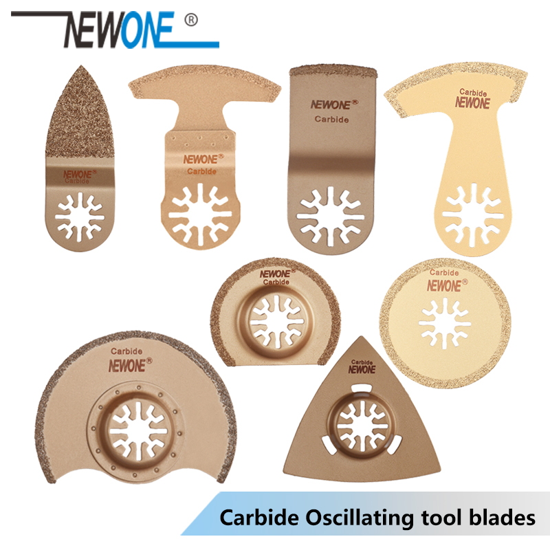 NEWONE 1pc Carbide Oscillating Tool Saw Blades Multi-tool Power Renovator Trimmer Saw Blades For Tail Bath