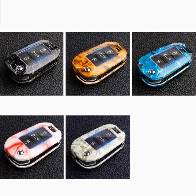Porte-clés ABS marbre pour Citroen C4 Grand Xsara C5 Elysee   C-quartre C3 XR Berlingo Cactus 3008 2008 308 307 508 301
