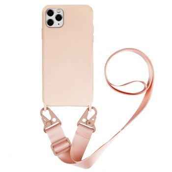 Delicate Silicone Lanyard Crossbody Mobile Phone Case For iPhone11 Pro 7 8 Plus 12 Carrying Sling Womens Fall Proof Back Cover image