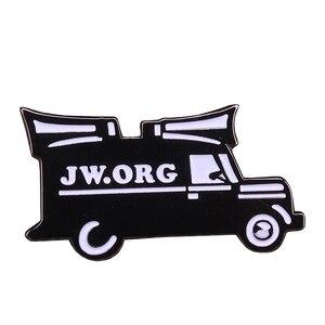 Jw.org эмалированная булавка, черный и белый звук, брошь автомобиль, христианский Бог, значок, значок, мужские крутые куртки, аксессуар