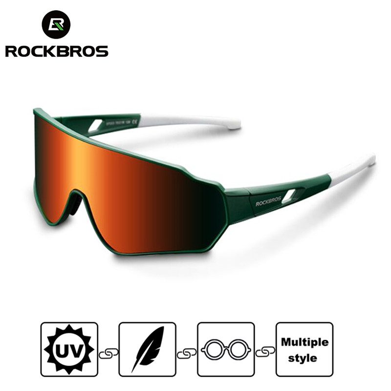 RockBros Cycling Sunglasses Polarized Goggles Photochromatic Goggles Glasses New