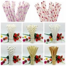 New 25pcs/lot Foil Paper Straws Flamingo Christmas Wedding Luau Decoration Bridal Shower Party Supplies Creative Dr