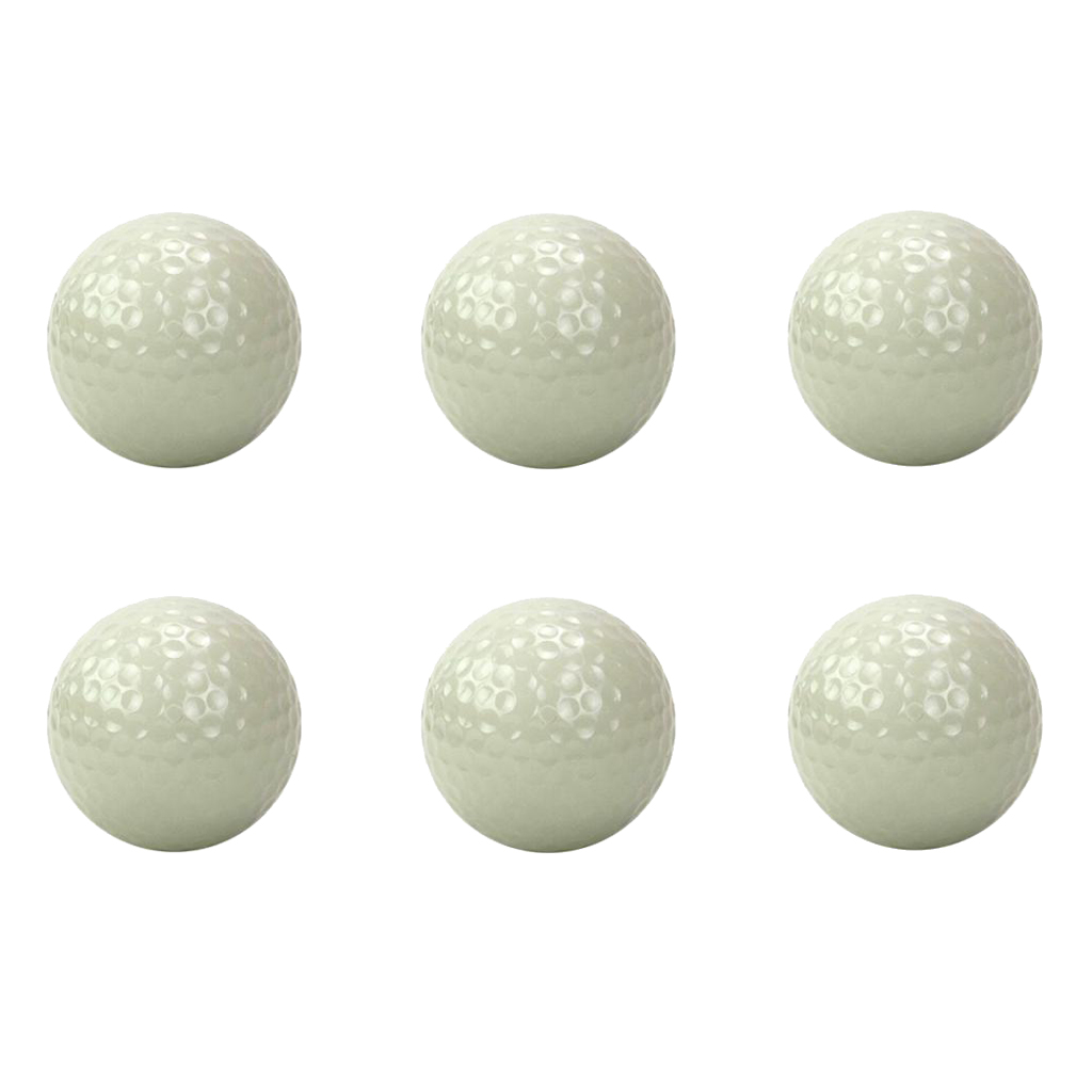 6 Pieces Luminous Night Golf Balls Long Lasting Reusable Bright Night Glow Golf Ball