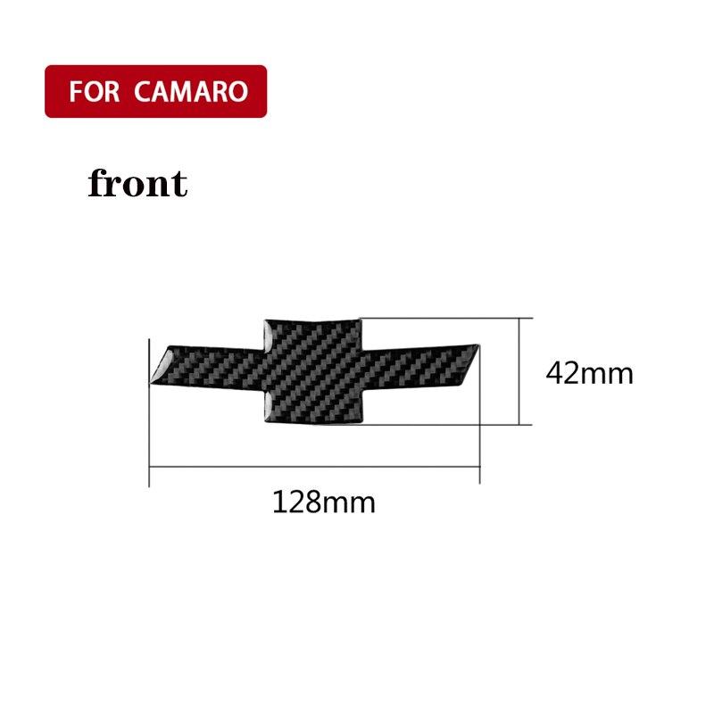 Car Carbon Fiber Sticker Car Styling Front/Back Grille Rear Cross Sticker Emblem Badge Cover For Ford Chevrolet Camaro 2016-2019