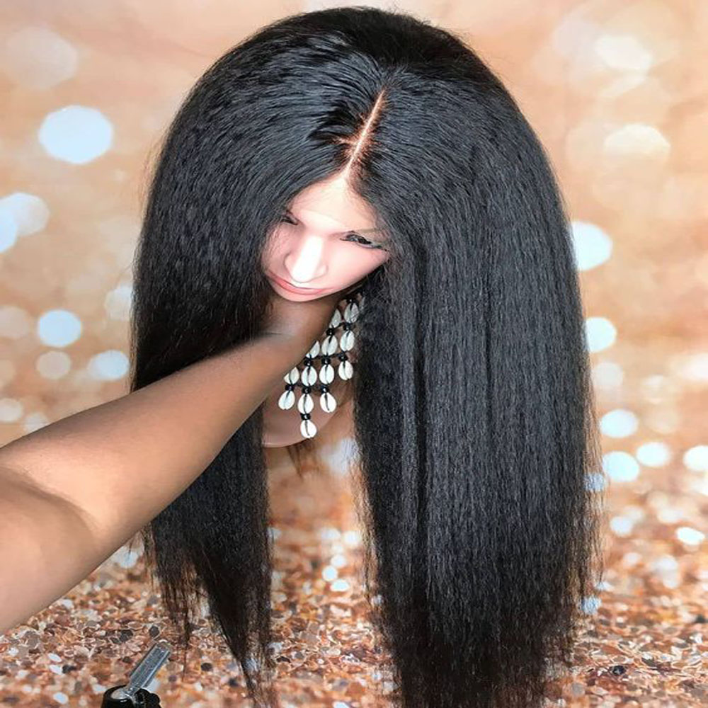 Highlight 360 Lace Frontal Human Hair Wig for Black Women Remy Hair Wig Pre Plucked Bleached Knots Baby hair Natural Color