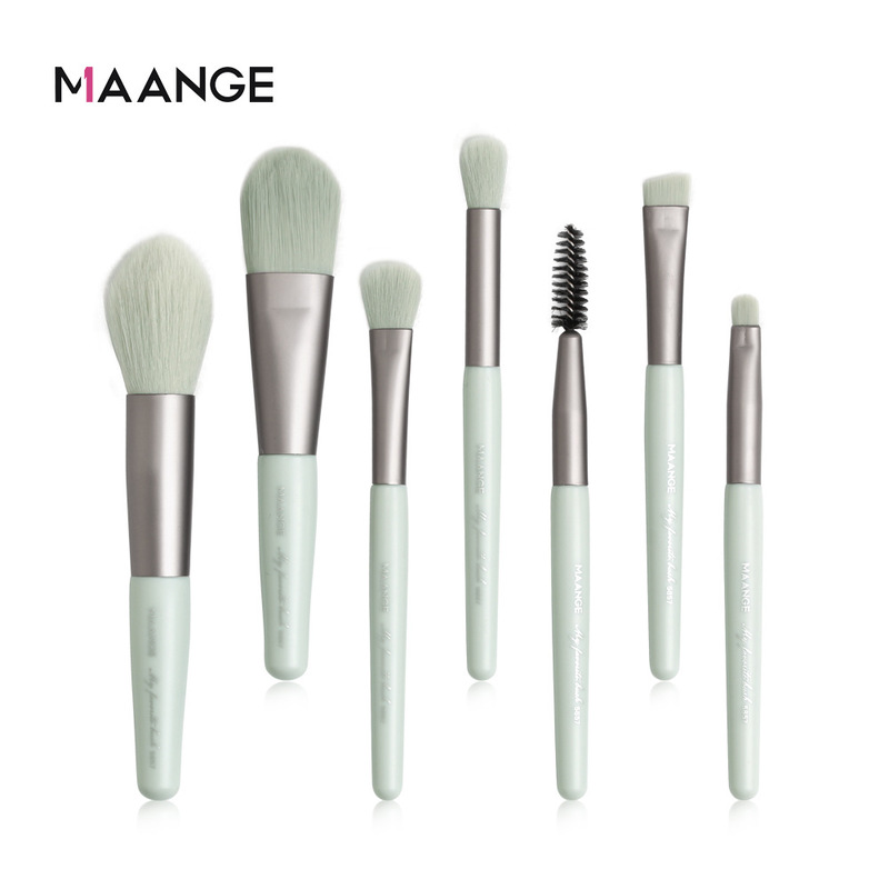 MAANGE 7Pcs Make-Up Pinsel Mini Set Kosmetische Pulver Lidschatten Foundation Blush Blending Schönheit Make-Up Pinsel