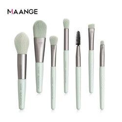 MAANGE 7Pcs Makeup Brushes Mini Set Cosmetic Powder Eye Shadow Foundation Blush Blending Beauty Make Up Brush