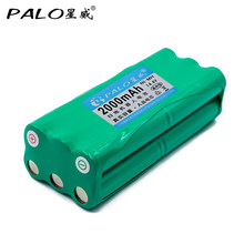 Аккумуляторная батарея PALO для робота-пылесоса, 14,4 В, Ni-MH, 2000 мА/ч, перезаряжаемая батарея для автомобилей с процессором M606, 1/2/1/4/4/4/4/4/4/4/4/1