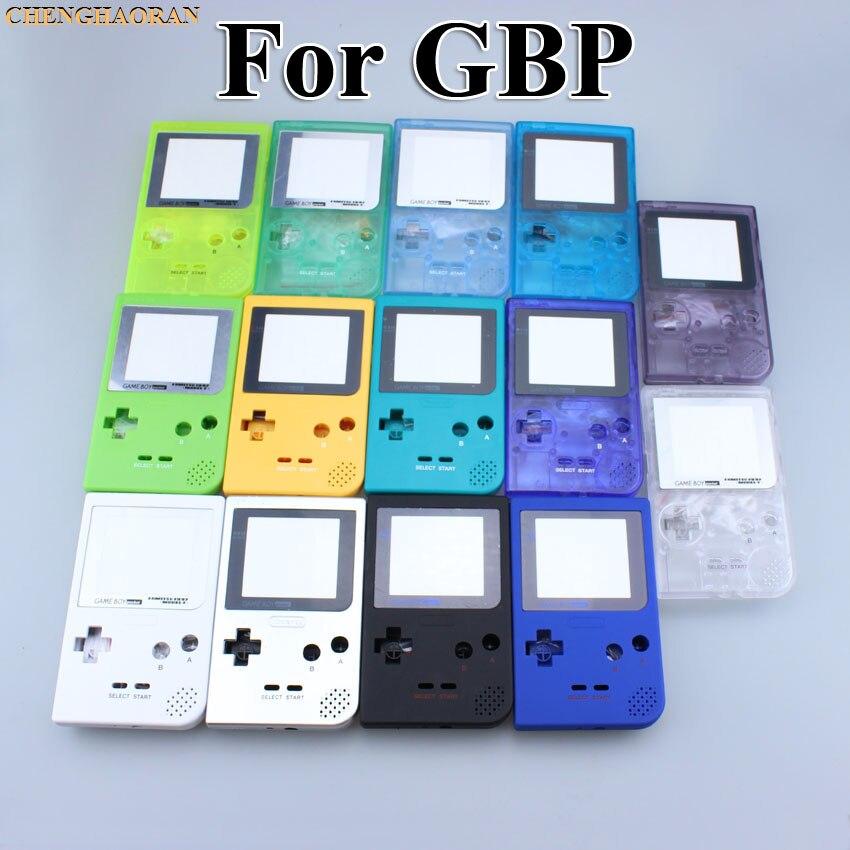 ChengHaoRan 16 color elegir para Nintendo Gameboy de bolsillo carcasa funda/carcasa de repuesto para GBP cubierta de la caja de cáscara con botones Kit