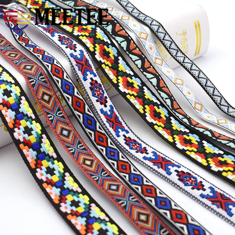 10meter Meetee 1,3-4,8 cm Stickerei Gurtband Jacquard Band Geflochtene Spitze Trim DIY Nähen Bekleidung Schuhe Heimtextilien Zubehör