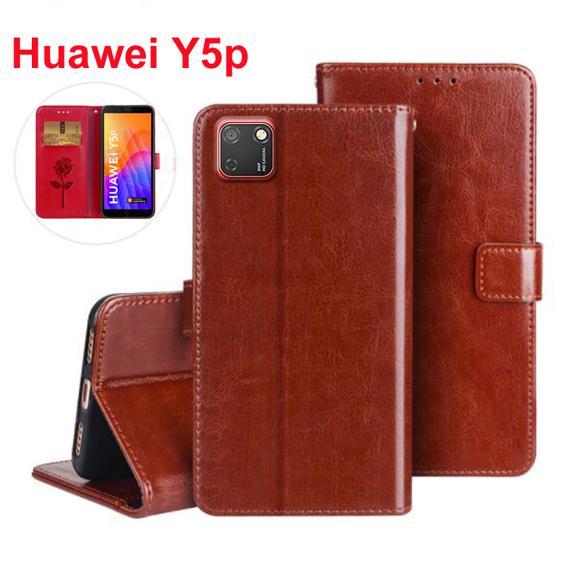 Flip Case For Huawei Y5P Cover PU Leather Wallet Magnetic Fashion Capa for Huawei Y5p y 5 p Phone Protective Stand Case Funda