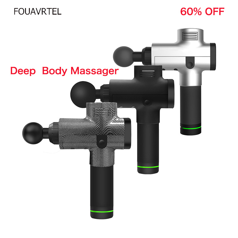FOUAVRTEL Deep Body Massager Electronic Muscle Massage Gun Muscle Massage Relaxation Device Therapy Body Relaxation Device