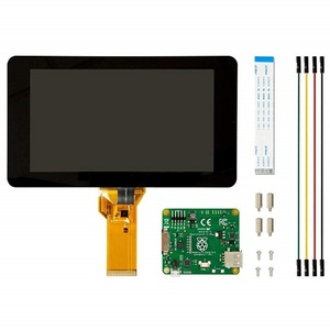 Image 2 - Raspberry pi original oficial 7 Polegada tft, lcd, tela de toque, monitor, display, 800*480, kit de apoio
