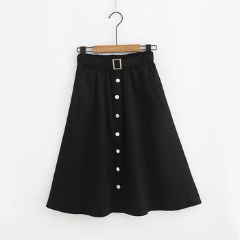 Vintage Long Skirt Elegant Women's Stretch High Waisted A Line Skater Pleated Skirts with Pockets Belt Flared Midi Skirt plaid a line midi skirt
