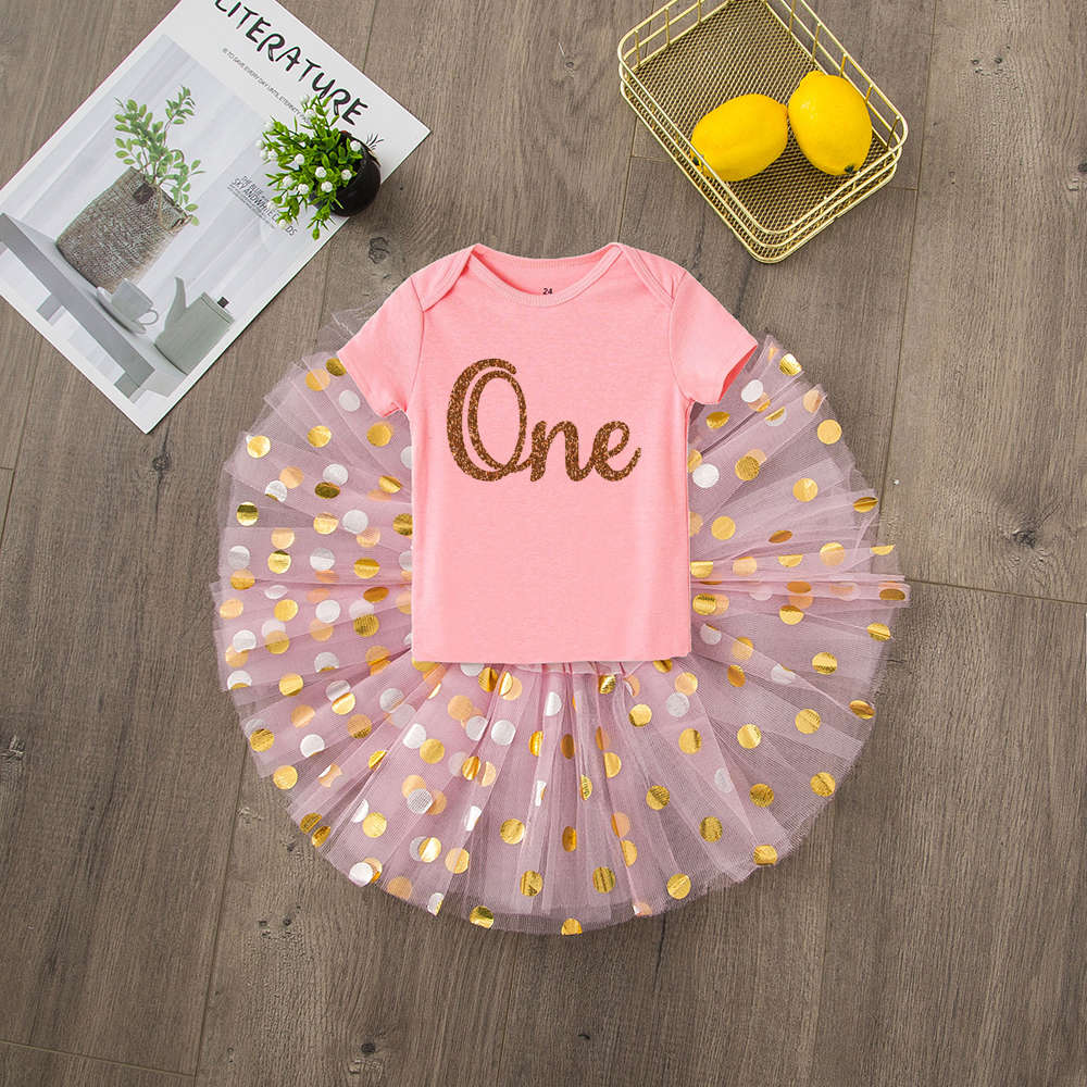 ONEderful Birthday Pink Gold Outfit 1st Birthday Party Girls Outfits Cake Smash Tutu+baby Bodysuits Summer Set Fashion Wear 7